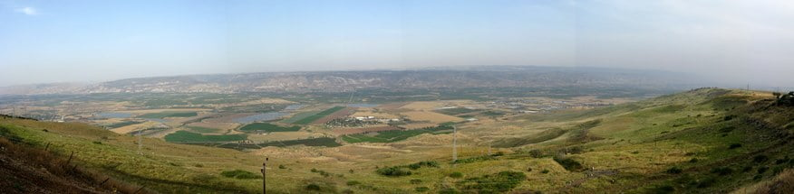 A panoramic view of the Jordan Valley