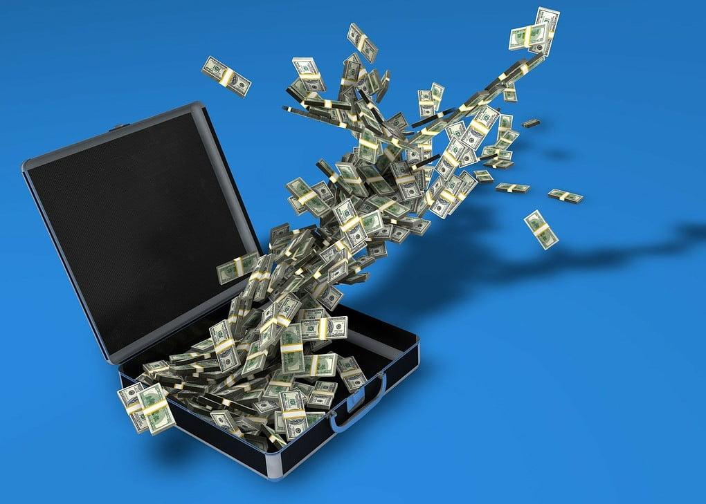 money case, dollars