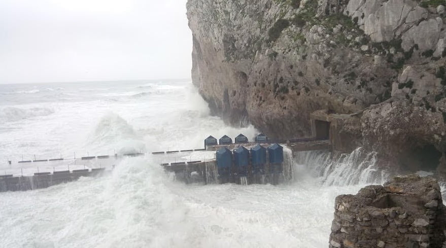 Eco Wave Power's system in Action in Gibraltar. Photo via Eco Wave Power's Facebook Page