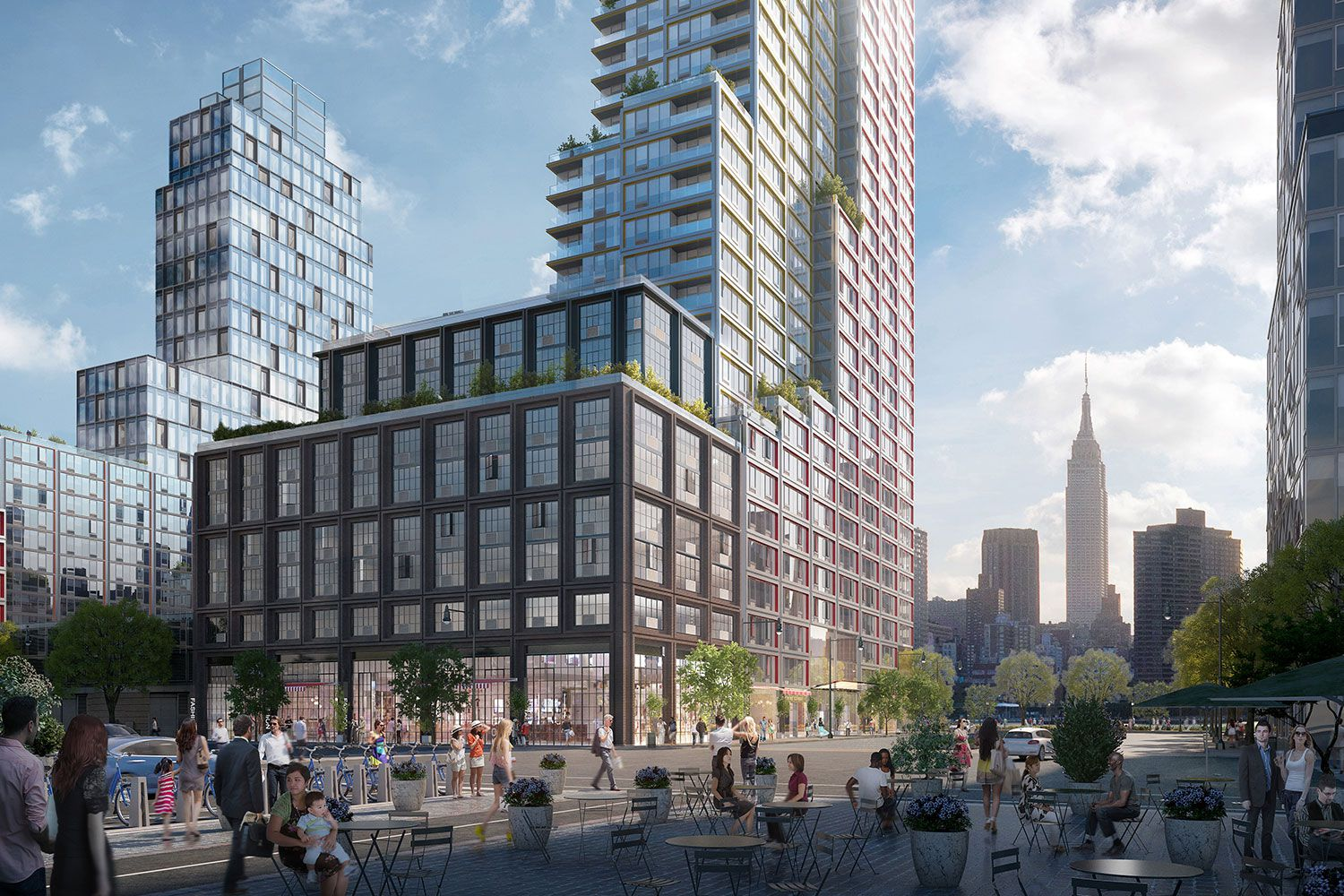 ODA's plan for Hunter's Point South Project in Queens. Courtesy