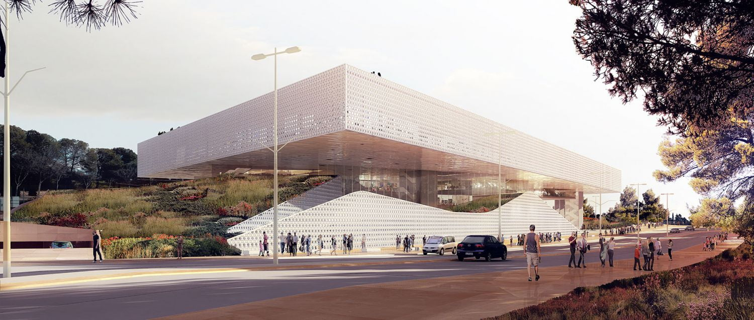 ODA's submission to the competition to design the National Library of Israel. Courtesy