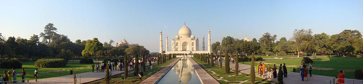 The Taj Mahal, Agra, India via Kumaravels/WikiCommons