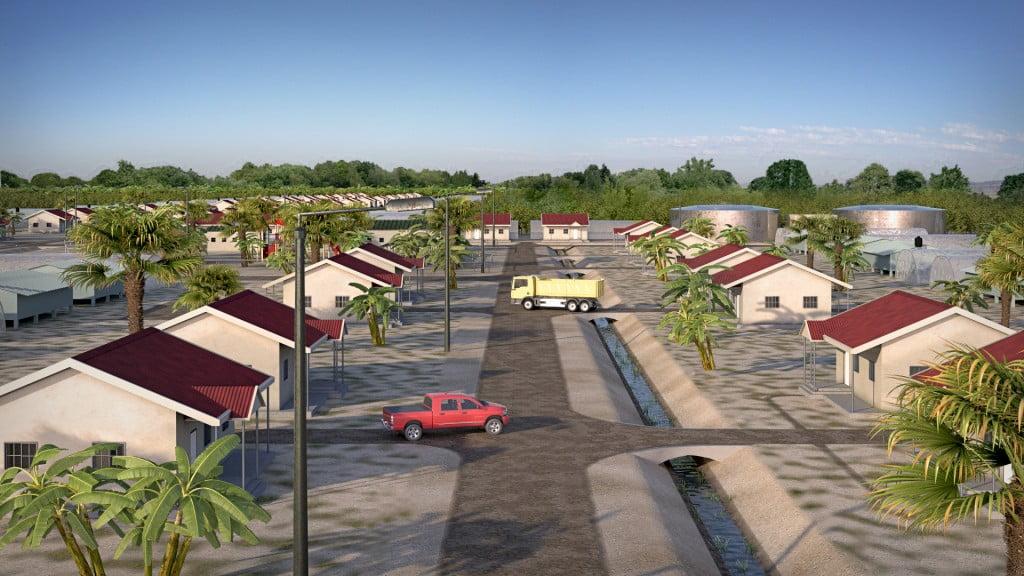 A village in Nigeria planned by AlefBet. Courtesy