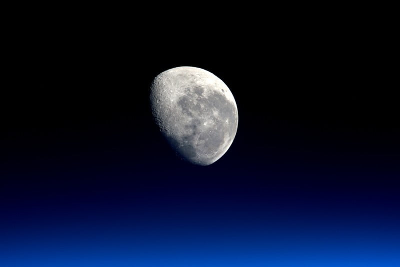 Moonset Viewed From the International Space Station by NASA