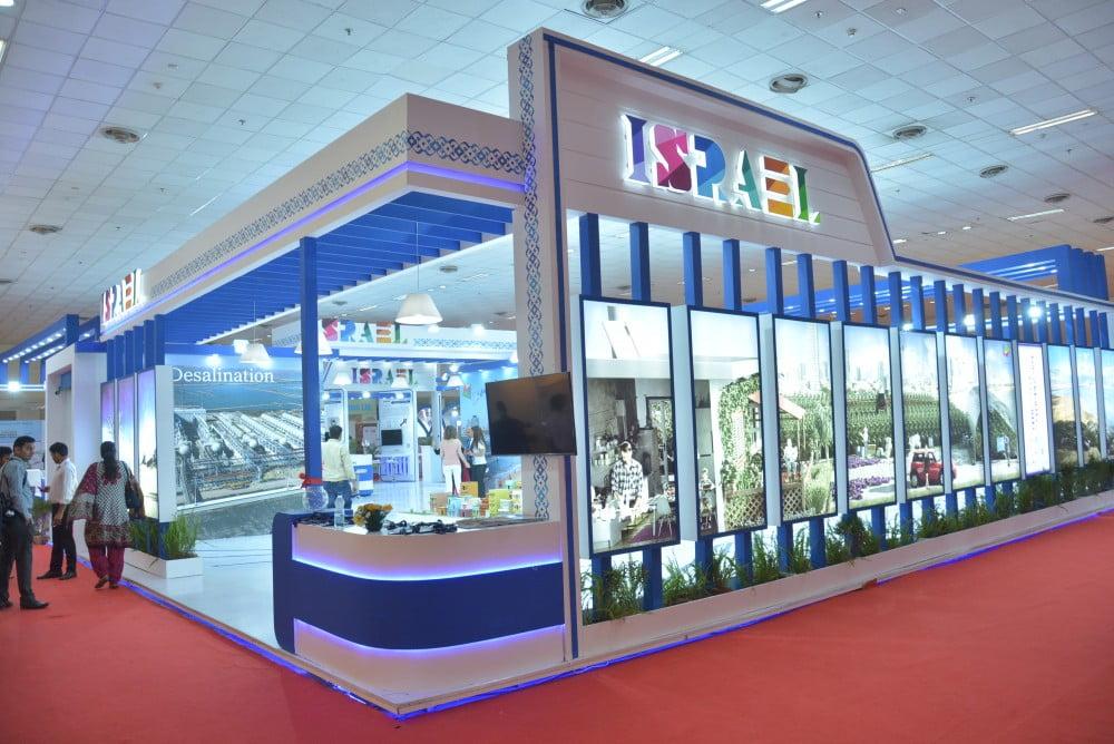 The Israeli pavilion at India Water Week 2016. Photo via Israeli Embassy, New Delhi/Flickr