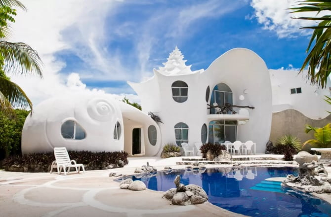 The Seashell House ~ Casa Caracol Isla Mujeres (Airbnb)