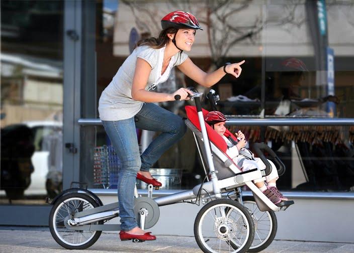 Taga 1.0 stroller bike. Courtesy