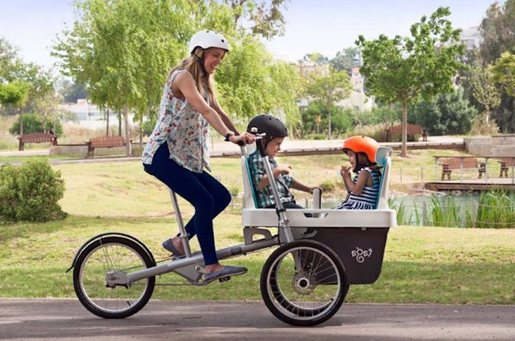 Bike Stroller Taga A Green Vehicle For 3 Technology News