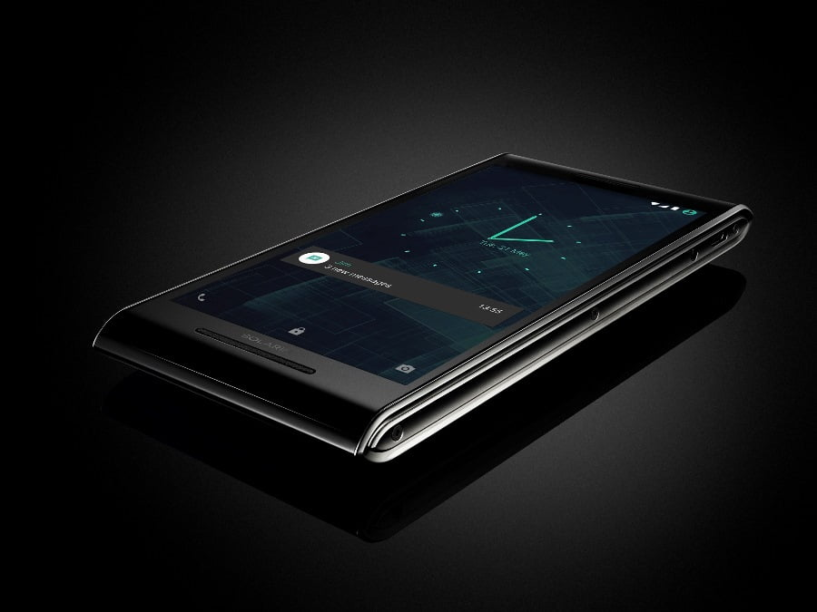 SOLARIN smartphone by Sirin Labs. Photo via Sirin Labs' Facebook Page