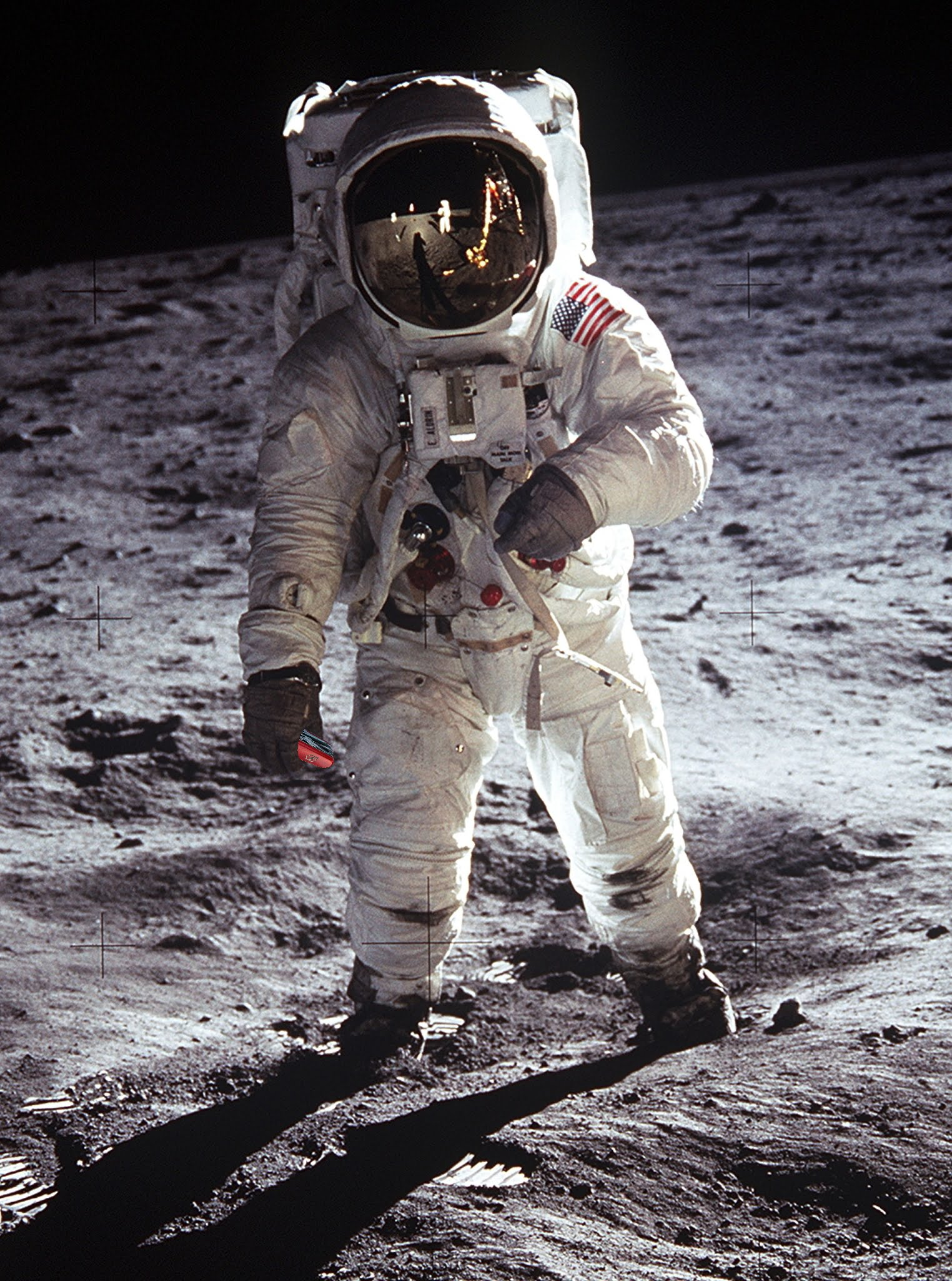 Aldrin on the moon during the Apollo 11 mission