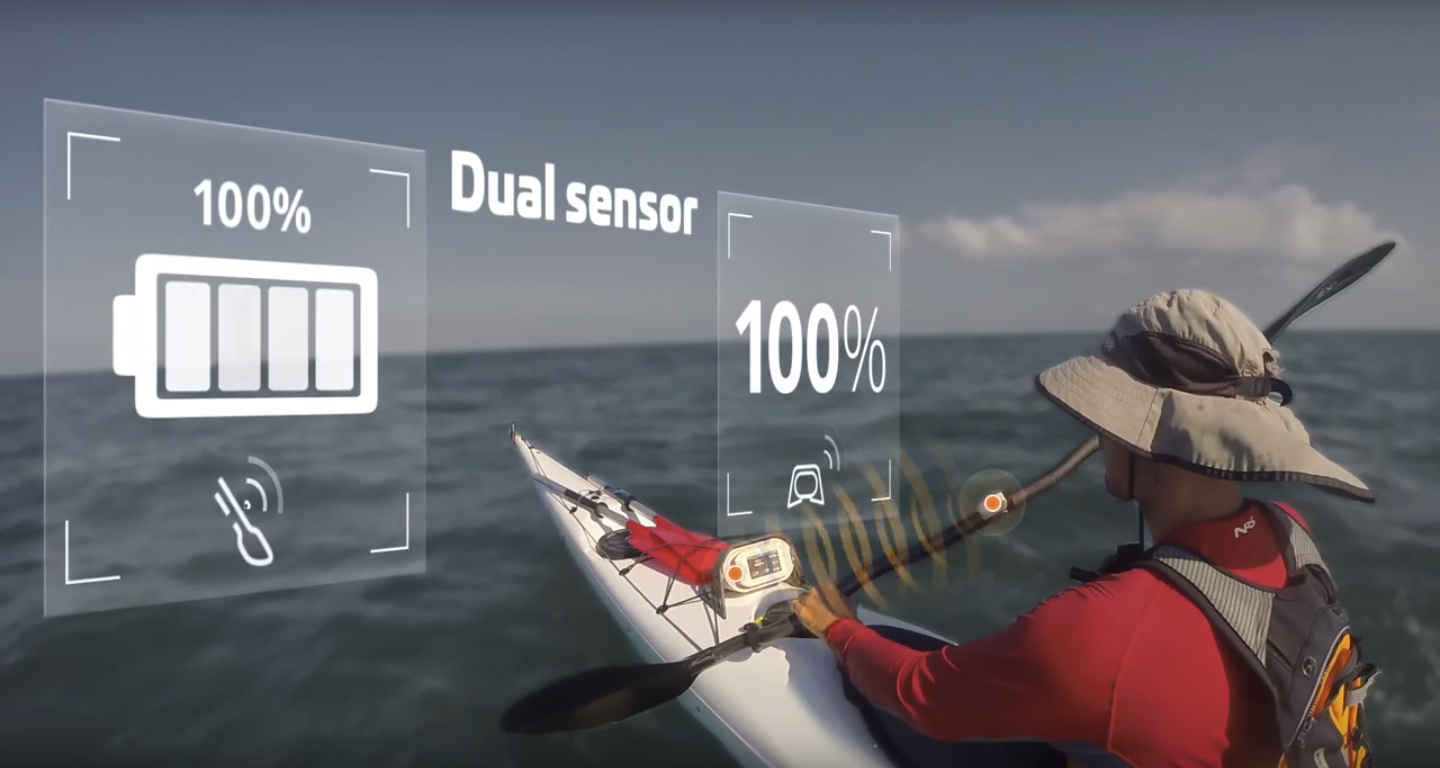 Motionize virtual coach for canoeing. Photo via Motionize's Facebook Page