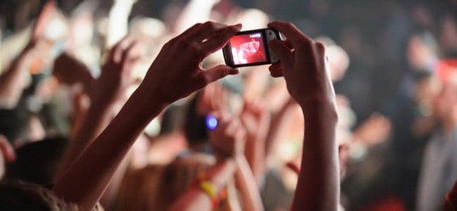 Smartphone Filming Concert. Courtesy