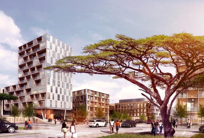 Konza Buildings via Konza Techno CityKenya's Facebook Account