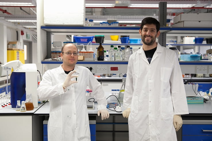 Researchers at the Technion's hydrogen lab. Courtesy of Technion