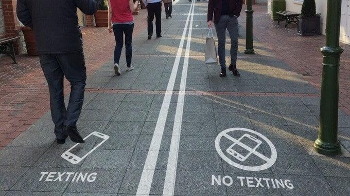 texting no texting crosswalk