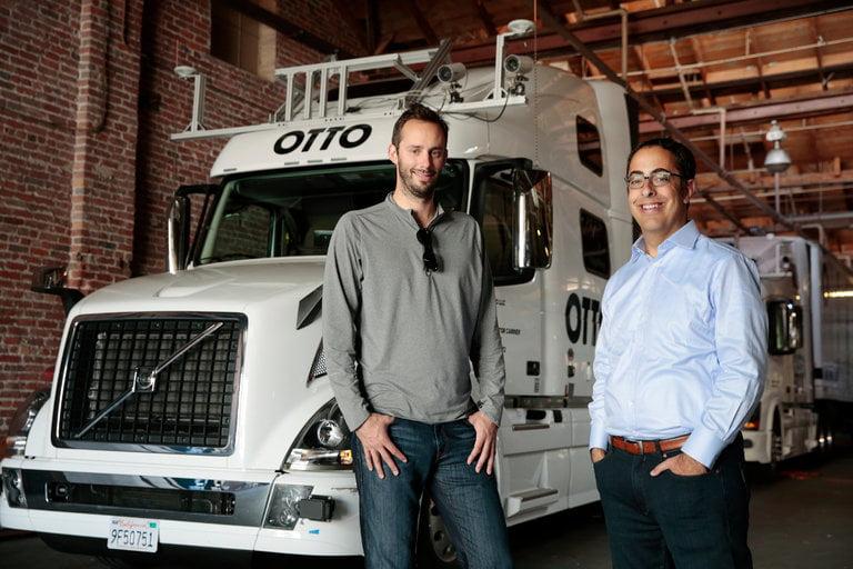 Otto co-founders Anthony Levandowski (left), and Lior Ron. Courtesy
