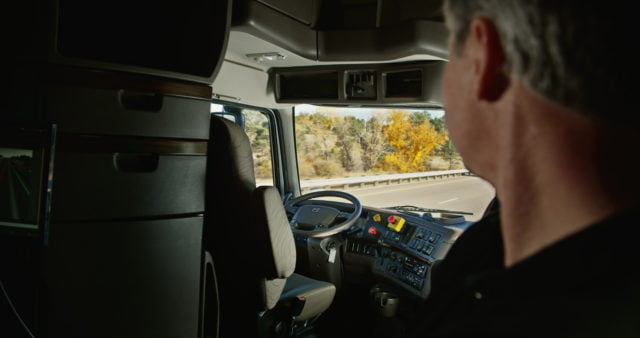 Otto's driverless truck in action. Courtesy