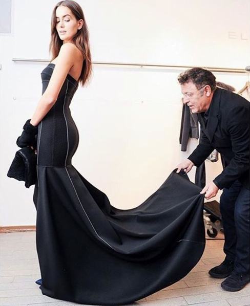 Israeli designer elie-tahari-preparing-for-a-show