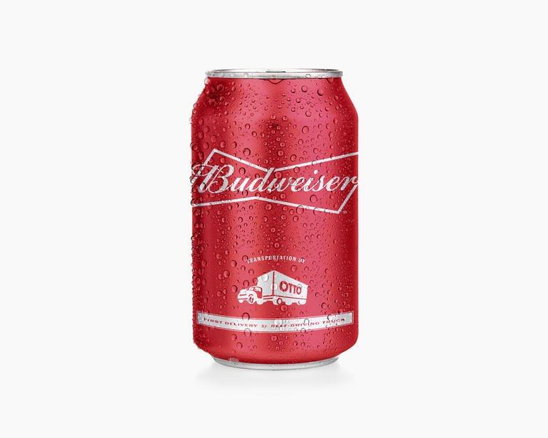 Otto, beer, Budweiser, beer can, driverless truck