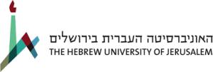 Hebrew U., Hebrew University, HU, HU logo