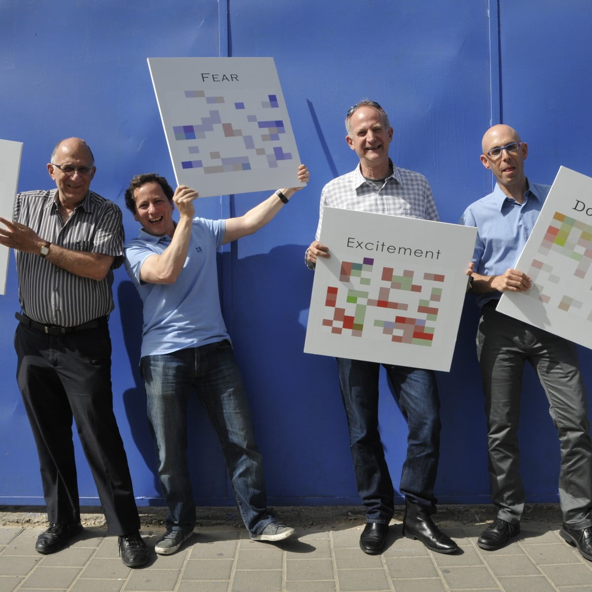 CEO Yuval Mor (2nd from right) with theBeyond Verbal Team. Courtesy