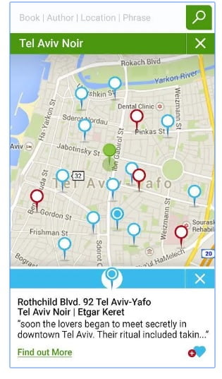 Books on Map App. Courtesy