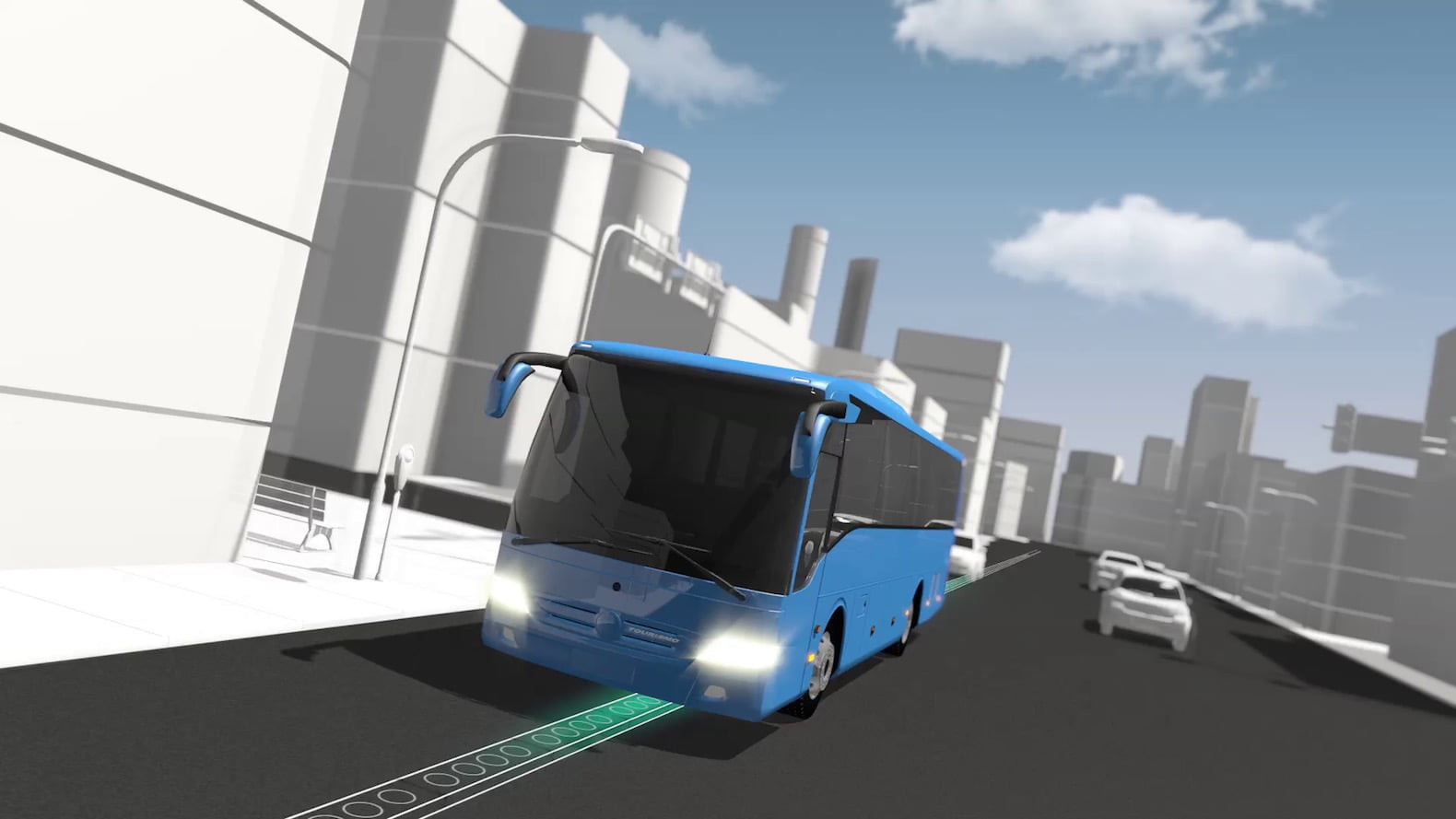 Charging, wireless charging, electric car, bus, electroad by  ElectRoad