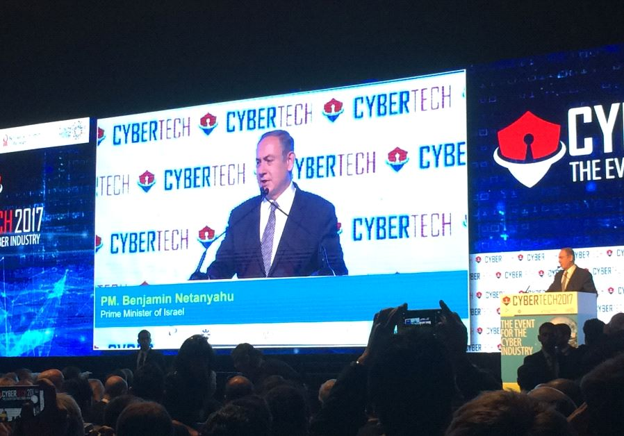 Netanyahu at a recent CyberTech conference in Israel. Courtesy of CyberTech 2017