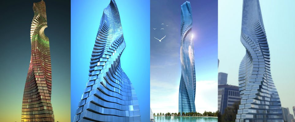 Dubai Tower. Courtesy of Dynamic Architechture Group