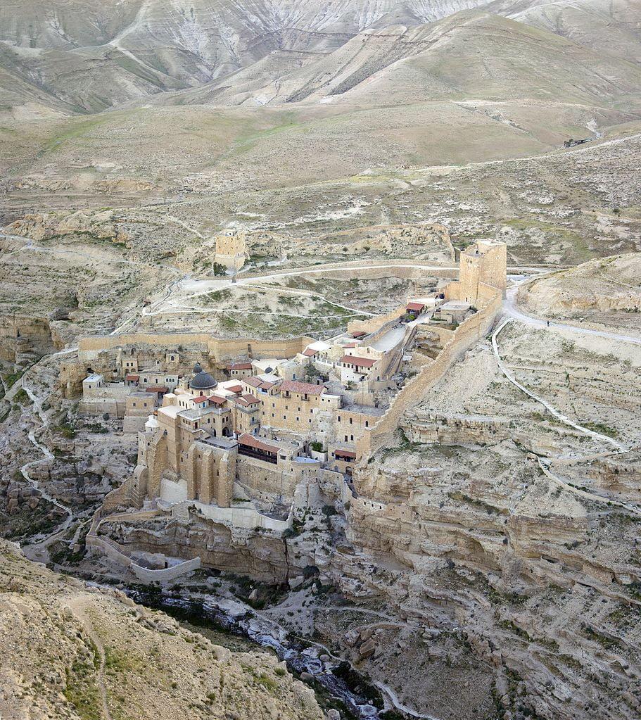 Mar Saba monastery, just east of Bethlehem via WikiCommons