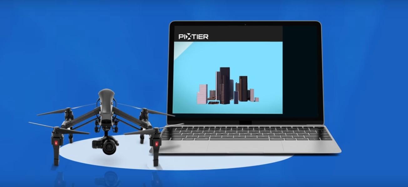 Pixtier 3D Maps Drones. Courtesy