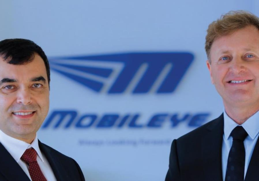 Mobileye founders Prof. Amnon Shashua and Ziv Aviram. Courtesy