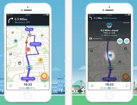 Waze Navigation App. Courtesy