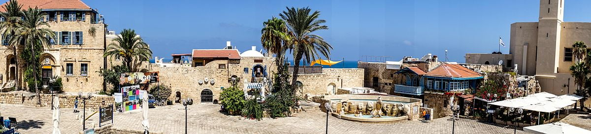 Kedumim Square, Old Jaffa, Tel Aviv-Yafo. Photo by Gady Munz for Pikiwiki