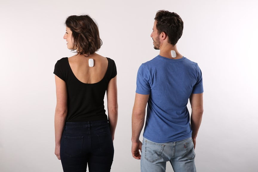 UPRIGHT GO wearable device that corrects your posture. Courtesy