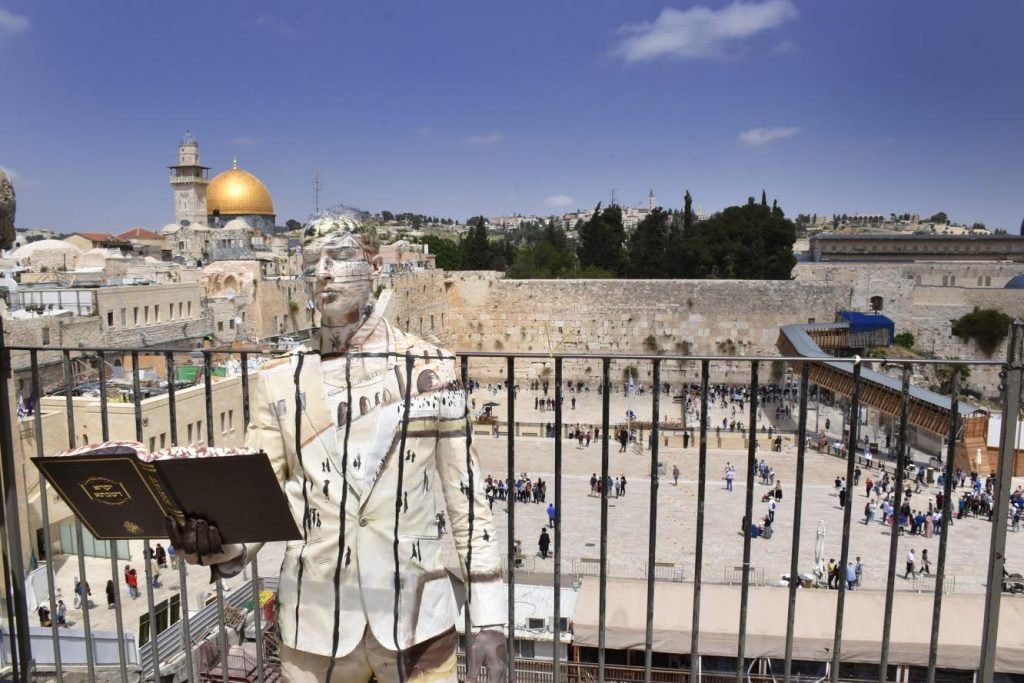 A model at the Western Wall. Courtesy of Avi Ram