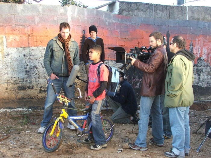 Cast and crew of Roads On Sets. Courtesy of Lior Geller