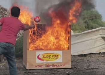 Extinguishing using Fire Ball. Photo of Elide Fire