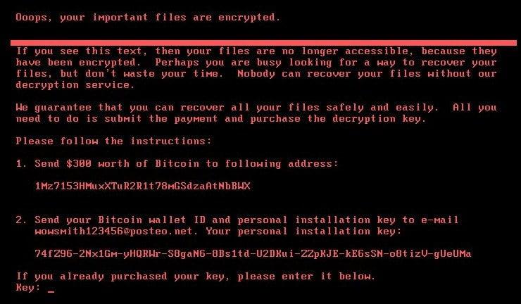 Petya Code - hack ransomware malicious worm virus. Courtesy of Trend Micro