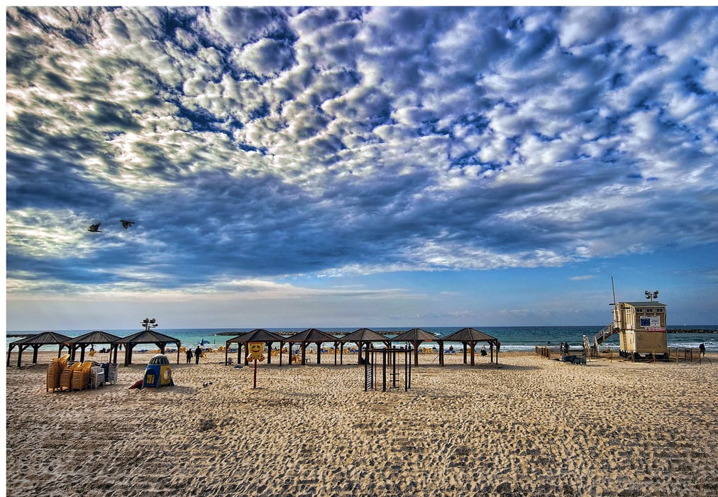 A Tel Aviv beach - By Ron Shoshani: https://www.flickr.com/photos/ronsho/6088396842