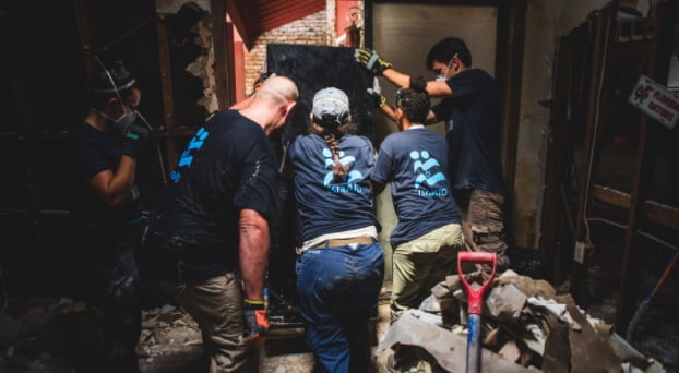 IsraAID provides emergency relief and debris removal assistance to communities in South Texas affected by Tropical Storm Harvey. (courtesy) https://www.classy.org/campaign/harvey-flood-relief-in-texas/c143145 http://www.israaid.co.il/