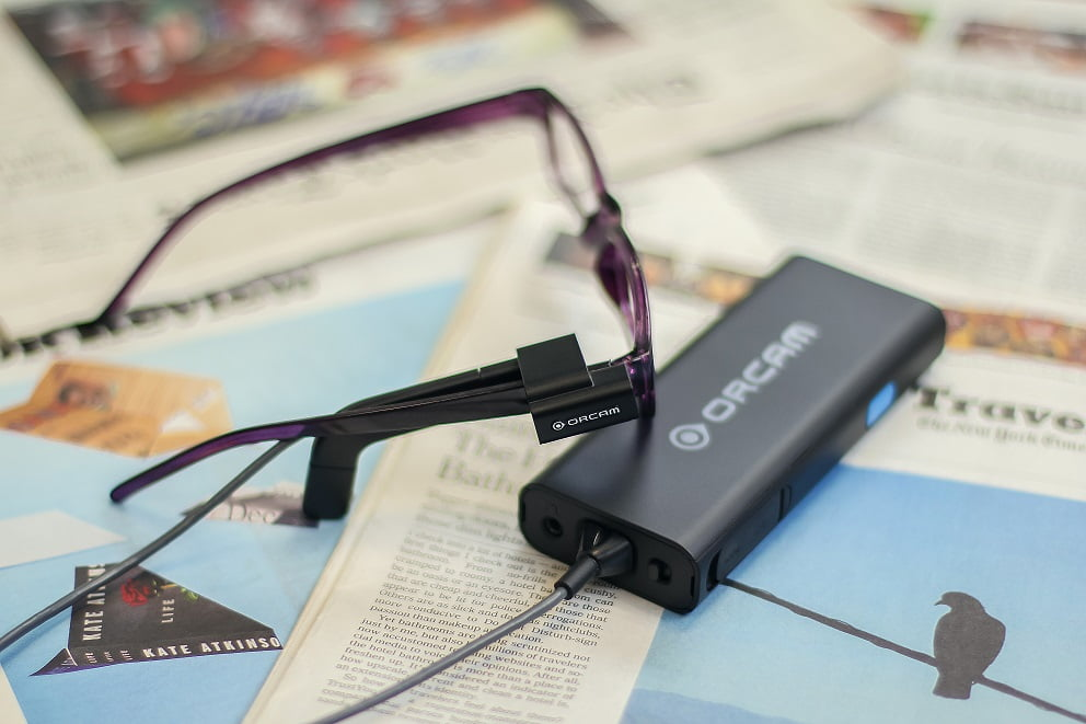 OrCam clasps onto glasses of visually impaired and blind (courtesy)