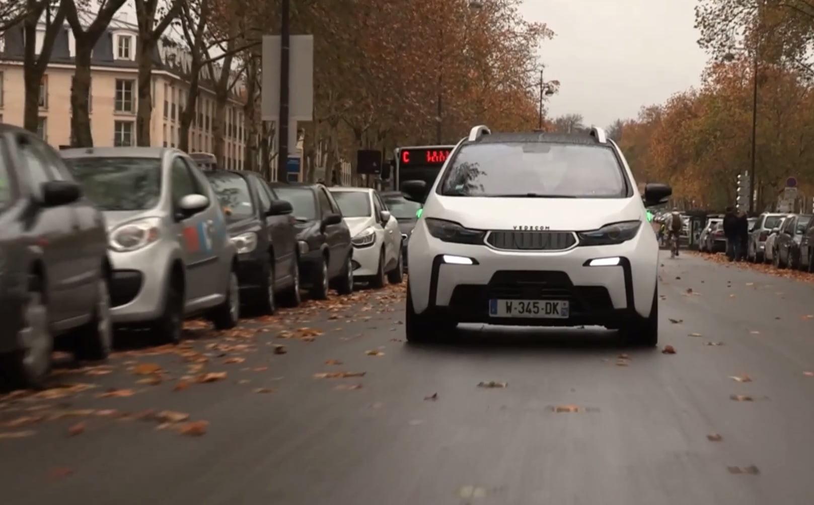Vedecom'a autonomous car, driverless vehicle, courtesy https://vimeo.com/224297482