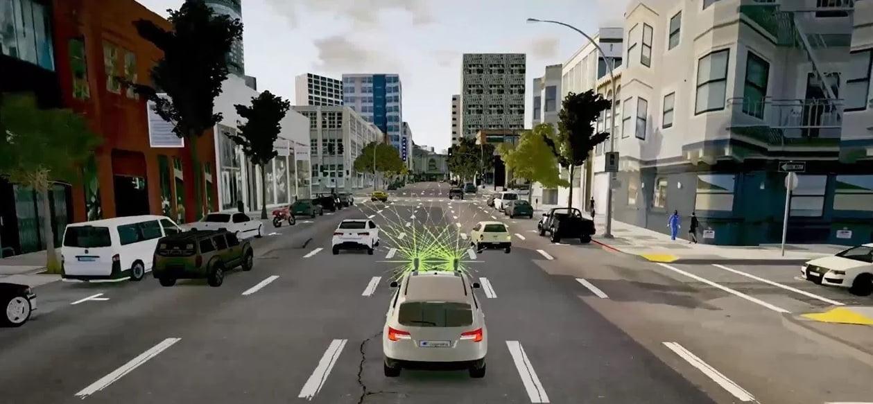cognata 3d simulators for driverless cars - courtesy of Cognata
