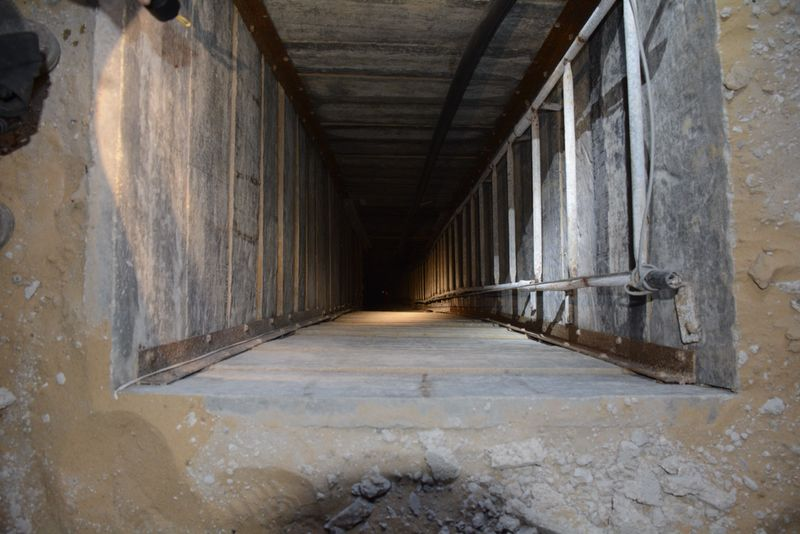Tunnel built by Hamas in 2014, courtesy