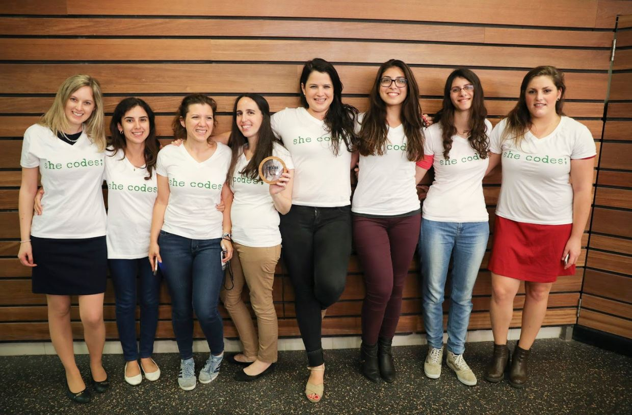 The She codes team were recognized for their efforts in teaching women how to code, earning $180,000 from WeWork. Courtesy