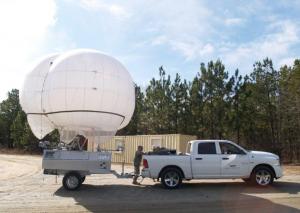 The Skystar 180 surveillance balloon has followed Pope Francis, President Trump, and Barack Obama. Courtesy