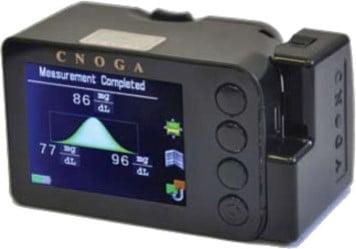 Cnoga pain-free glucometer. Photo via Cnoga Medical