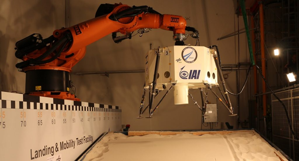 SpaceIL's Sparrow undergoing testing. Courtesy SpaceIL