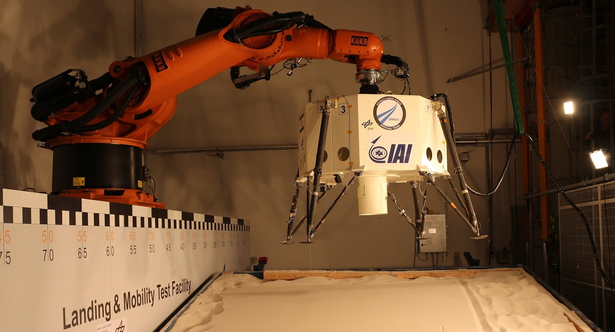 SpaceIL's the Sparrow undergoes testing. Courtesy of SpaceIL